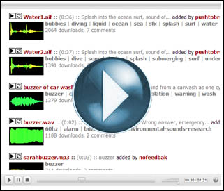 SMARTBoard: An on-line bank of sound effects to use within