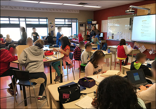Modern Classroom With Students : Transforming classroom spaces beyond the tools